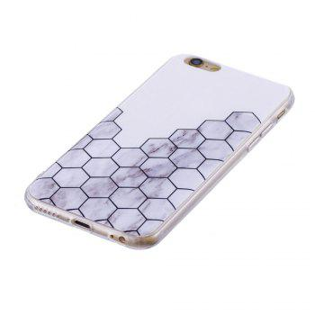 TPU Soft Case for iPhone 6 Plus / 6s Plus Cubic Marble Style Back Cover - GRAY