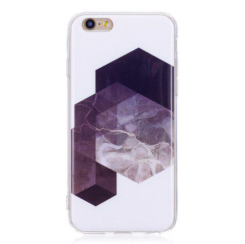TPU Soft Case for iPhone 6 Plus / 6s Plus Geometric Marble Style Back Cover - BLACK