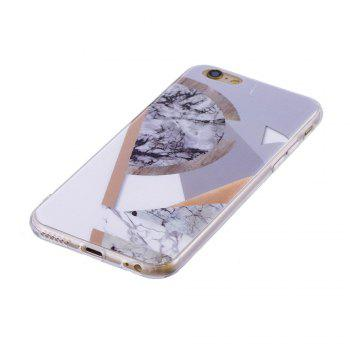 TPU Soft Case for iPhone 6 Plus / 6s Plus Joining Marble Style Back Cover - GRAY