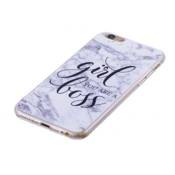 TPU Soft Case for iPhone 6 Plus / 6s Plus Marble Style Back Cover - WHITE