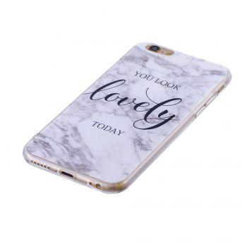 TPU Soft Case for iPhone 6 Plus / 6s Plus Lovely You Marble Style Back Cover - WHITE