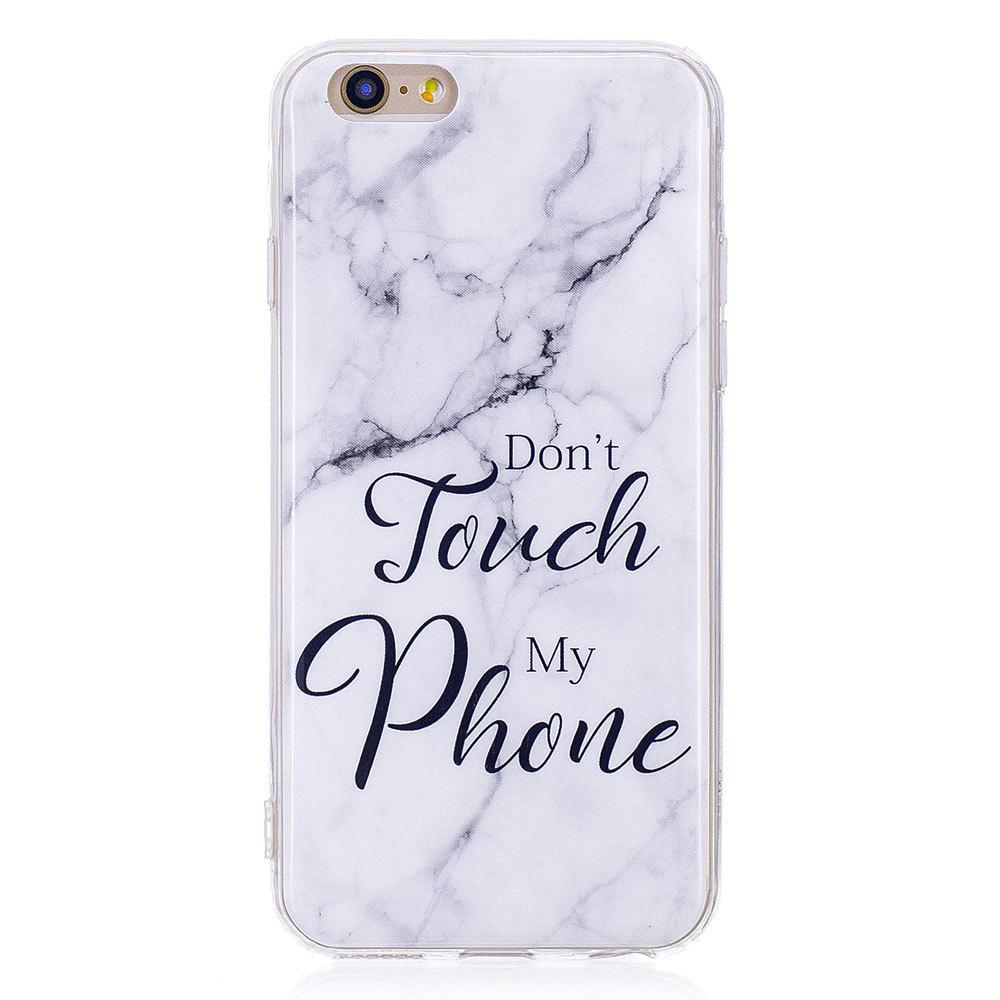 TPU Soft Case for iPhone 6 Plus / 6s Plus My Phone Marble Style Back Cover - WHITE