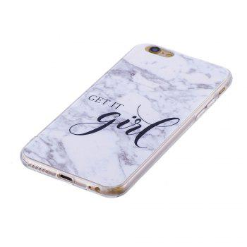 TPU Soft Case for iPhone 6 Plus / 6s Plus Girl Marble Style Back Cover - WHITE
