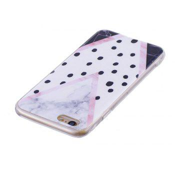 TPU Soft Case for iPhone 6 / 6s Black Spots Marble Style Back Cover - COLORFUL