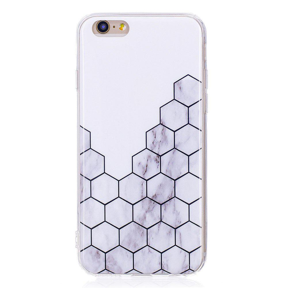 half off 41795 ef969 TPU Soft Case for iPhone 6 / 6s Cubic Marble Style Back Cover