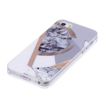 TPU Soft Case for iPhone 5 / 5S / SE Joining Marble Style Back Cover - GRAY