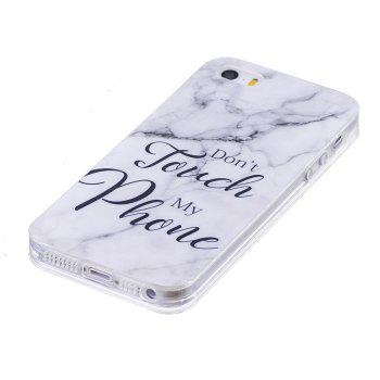 TPU Soft Case for iPhone 5 / 5S / SE My Phone Marble Style Back Cover - WHITE