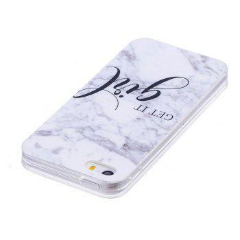 TPU Soft Case for iPhone 5 / 5S / SE Girl Marble Style Back Cover - WHITE