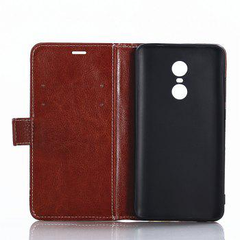 Lichi Grain Wallet Style PU Leather Case for Xiaomi Redmi Note 4X 32GB with Stand Function and Card Holder - LIGHT BROWN