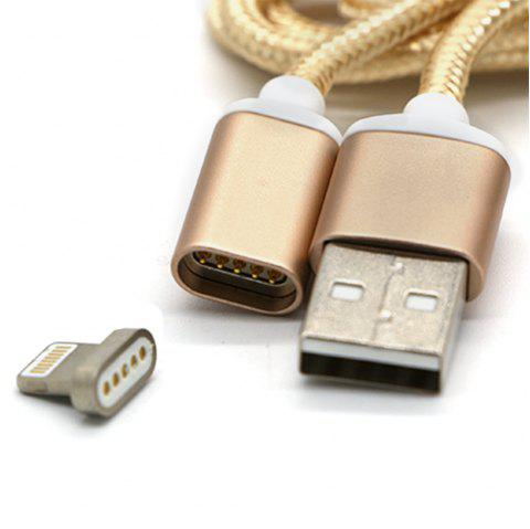 2.4A High Speed Charging Magnetic Cable For IPhone - GOLDEN