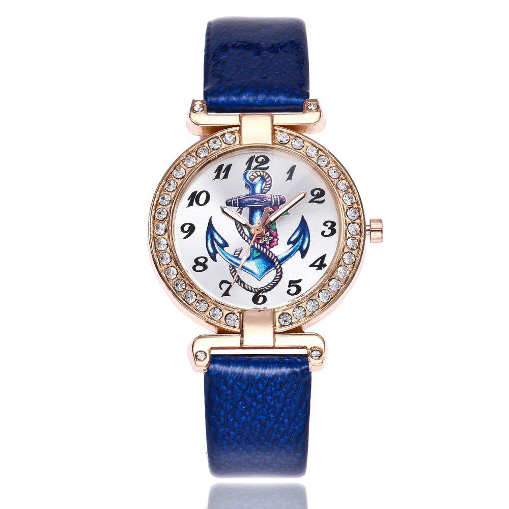 Khorasan Ship Anchor Classic Digital Leisure Belt Quartz Watch - BLUE
