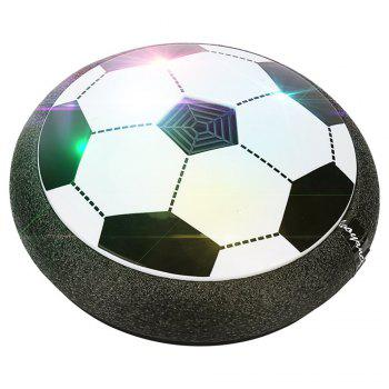 Kids Toys Hover Ball Air Power Floating Soccer LED Training Football with Foam Bumpers for Outdoor Indoor Games - BLACK WHITE BLACK WHITE