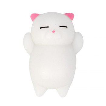 Kawaii Slow Rising Soft Squishy Squeeze Cute Mini Cat Stress Reliever Decompression Toy for Kids Fidget Gift 3PCS - COLORMIX