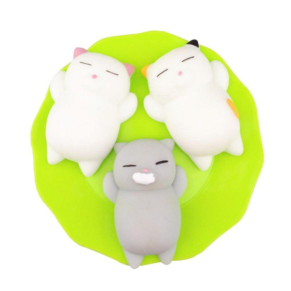 Kawaii Slow Rising Soft Squishy Squeeze Cute Mini Cat Stress Reliever Decompression Toy for Kids Fidget Gift 3PCS 1pc 20cm kawaii soft cat plush toys stuffed animal lying cat doll cute doll for kids baby birthday gift children s gift pillow