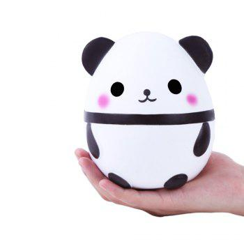 Cute Panda Kawaii Cream Scented Squishies Very Slow Rising Kids Toys Doll Gift Fun Collection Stress Relief Toy - WHITE WHITE