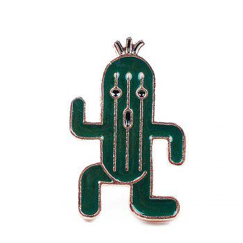Cute Lapel Pin Enamel Ice Cream Cactus Brooch Plant Set Jewelry Brooches Clip Scarf Women and Female Jacket Gift - GREEN