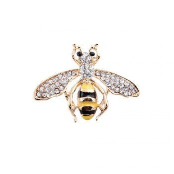 10 Designs New Honeybee with Crystal Design Brooches Lovely Bee Insect Pins for Women Jewelry New Year Gift - GOLDEN GOLDEN