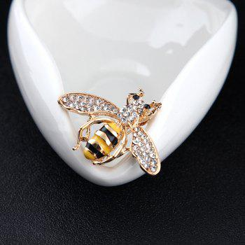 10 Designs New Honeybee with Crystal Design Brooches Lovely Bee Insect Pins for Women Jewelry New Year Gift -  GOLDEN