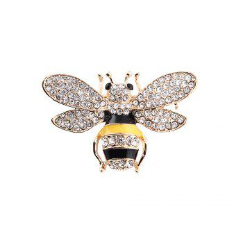 10 Designs New Honeybee with Crystal Design Brooches Lovely Bee Insect Pins for Women Jewelry New Year Gift - MARIGOLD MARIGOLD