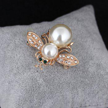 10 Designs New Honeybee with Crystal Design Brooches Lovely Bee Insect Pins for Women Jewelry New Year Gift - WHITE