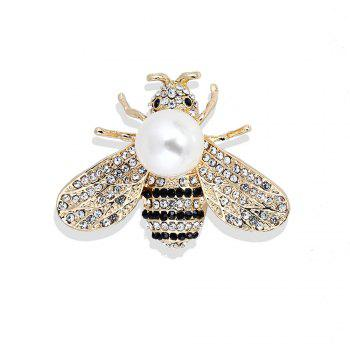 10 Designs New Honeybee with Crystal Design Brooches Lovely Bee Insect Pins for Women Jewelry New Year Gift - SILVER SILVER