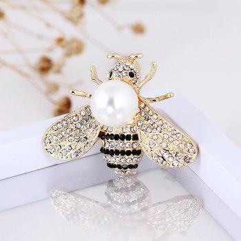 10 Designs New Honeybee with Crystal Design Brooches Lovely Bee Insect Pins for Women Jewelry New Year Gift - SILVER