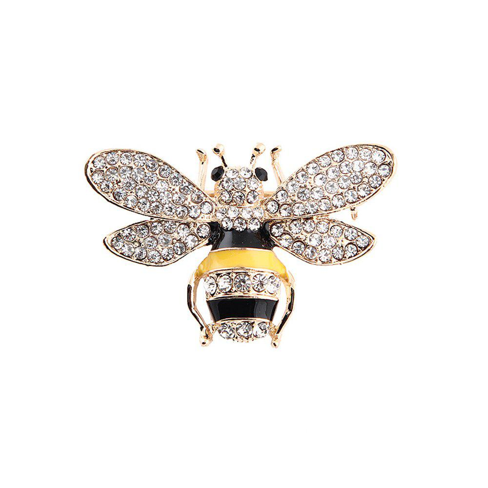 10 Designs New Honeybee with Crystal Design Brooches Lovely Bee Insect Pins for Women Jewelry New Year Gift - MARIGOLD