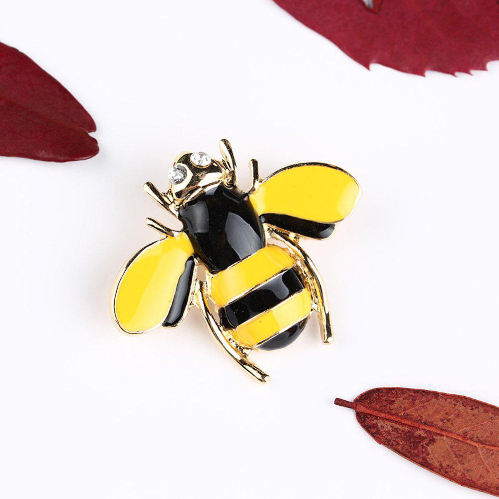 10 Designs New Honeybee with Crystal Design Brooches Lovely Bee Insect Pins for Women Jewelry New Year Gift - DAISY