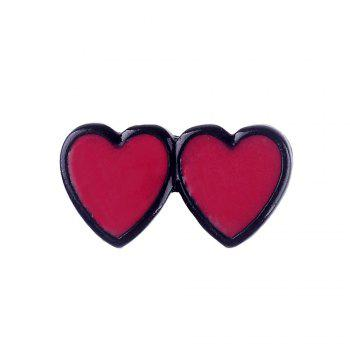 Fashion Cat Heart Toothpaste Enamel Clothing Woman Brooch Pincers Set for Woman As Gift Jewelry - COLORMIX