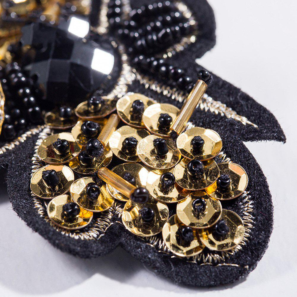 New Style Handmade Brooch Bee Design Drops Necklace Brooches for Women Party Gift Jewelry - BLACK