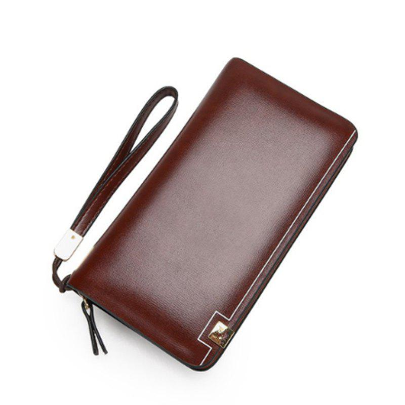 Men'S Wallet Man'S Large Capacity Clutch Bag - LIGHT BROWN