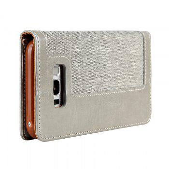 For Samsung S8 Belt Rope Wallet - GRAY