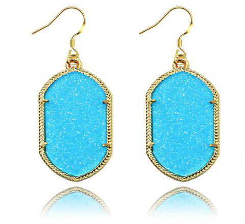 European and American Fashion Phnom Penh Fluorescent Acrylic Earrings for Woman - BLUE
