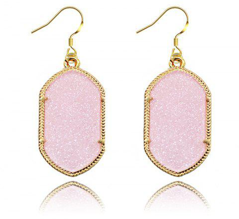 European and American Fashion Phnom Penh Fluorescent Acrylic Earrings for Woman - LIGHT PINK