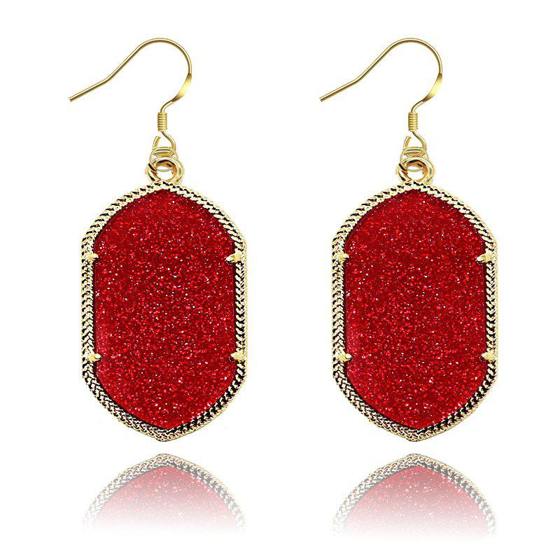 European and American Fashion Phnom Penh Fluorescent Acrylic Earrings for Woman - RED