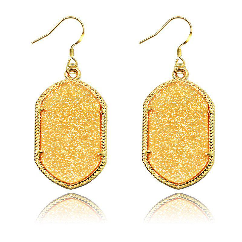 European and American Fashion Phnom Penh Fluorescent Acrylic Earrings for Woman - CHAMPAGNE