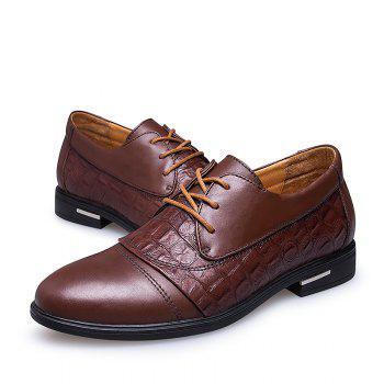 Four Seasons Italian Style Business Men'S Shoes - BROWN 41