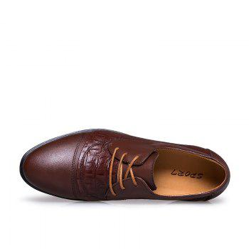 Four Seasons Italian Style Business Men'S Shoes - BROWN 42