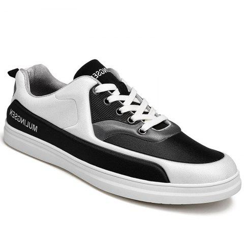 New Spring Elastic Cloth Rubber Soled Sports Shoes - BLACK 42