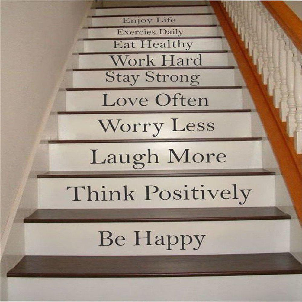 Фото Quote Wall StickerEnjoy Life Staircase Decorative Decal family wall quote removable wall stickers home decal art mural