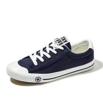 Women Casual Cute Simple Design Flat Outdoor Shoes - BLUE 36