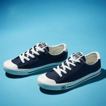 Women Casual Cute Simple Design Flat Outdoor Shoes - BLUE 35