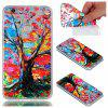 for Huawei  P8 Lite 2017 Colorful Tree Painted Relief Soft Clear TPU Phone Casing Mobile Smartphone Cover Case - COLOUR