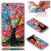 for Huawei P9 Lite Colorful Tree Painted Relief Soft Clear TPU Phone Casing Mobile Smartphone Cover Case - COLOUR