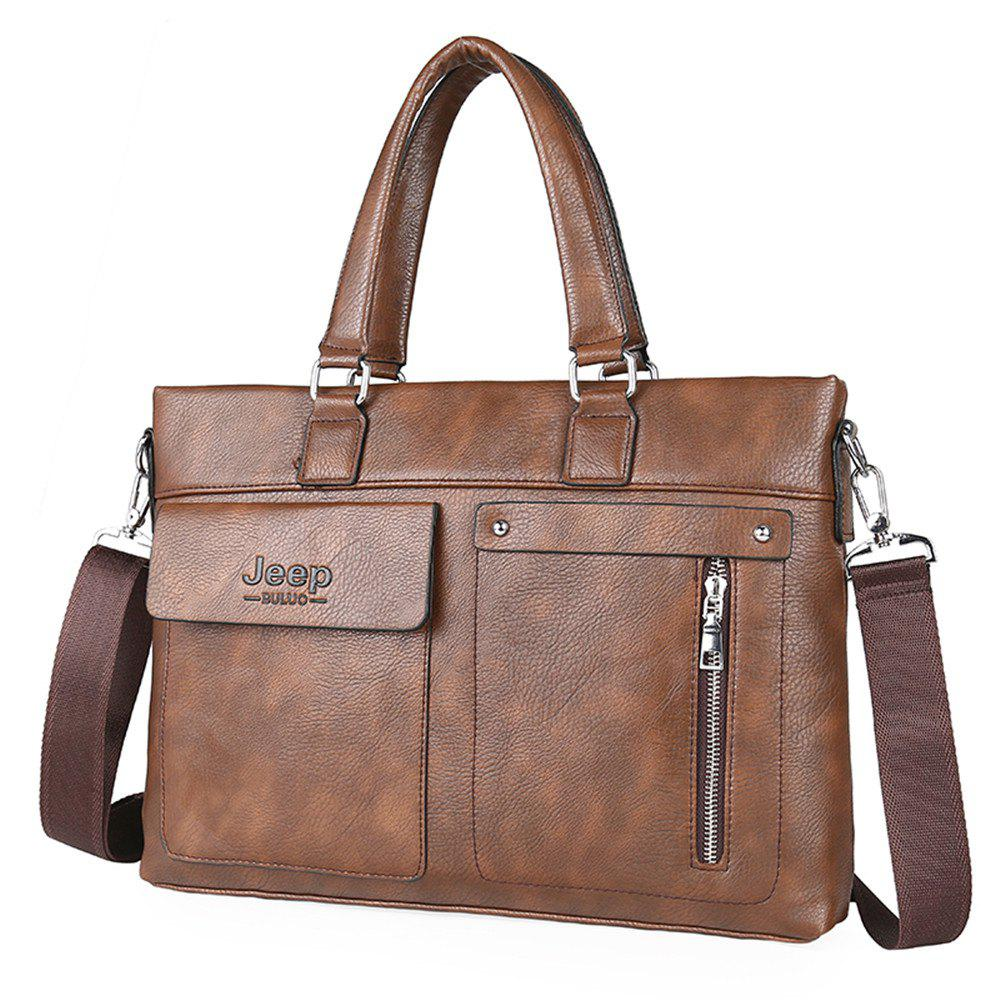 Business men's fashion document bag - BROWN
