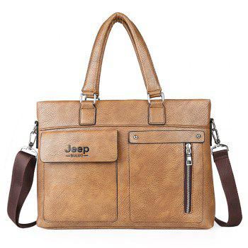 single shoulder slope across business briefcase - KHAKI KHAKI