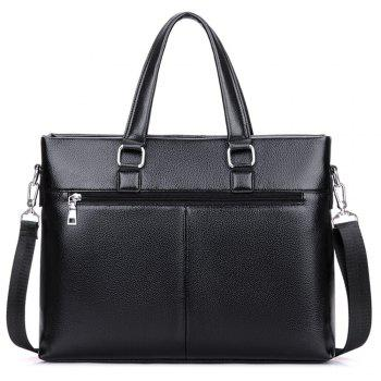 Business one shoulder inclined shoulder bag carrying the computer briefcase - BLACK