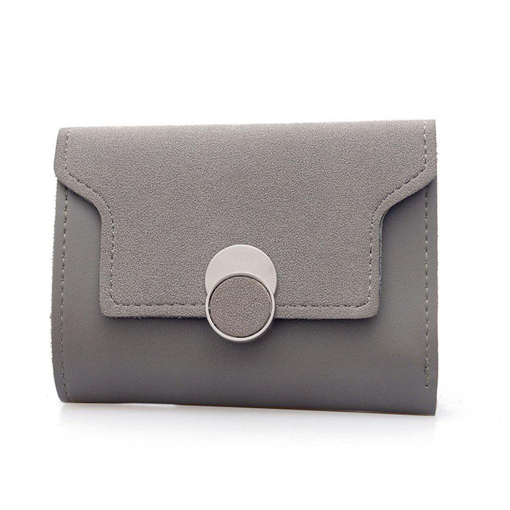 Women'S Purse Long Frosted Multi-Functional Short Wallet Clutch - GRAY