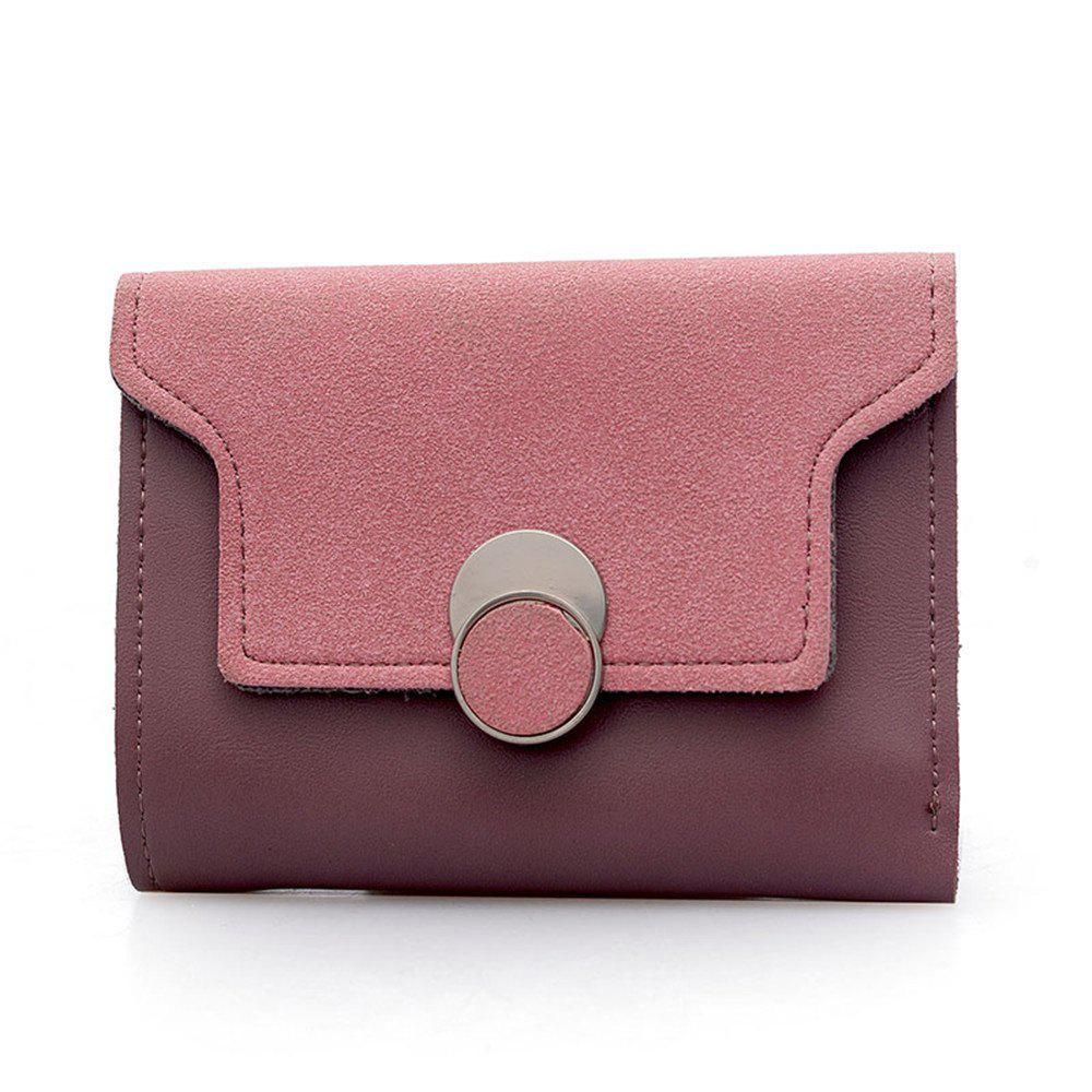 Women'S Purse Long Frosted Multi-Functional Short Wallet Clutch - PINK