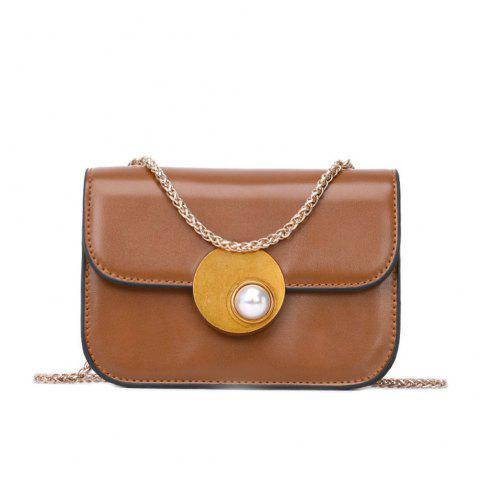 Small Female Fashion Chain Messenger Bag Small Party - BROWN